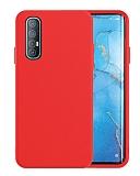 Eiroo Lansman Oppo Reno3 Pro Kırmızı Silikon Kılıf
