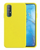 Eiroo Lansman Oppo Reno3 Pro Sarı Silikon Kılıf