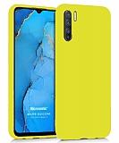 Eiroo Lansman Oppo Reno3 Sarı Silikon Kılıf