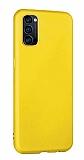 Eiroo Lansman Oppo Reno4 Sarı Silikon Kılıf