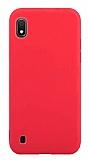 Eiroo Lansman Samsung Galaxy A10 Kırmızı Silikon Kılıf