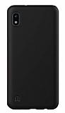 Eiroo Lansman Samsung Galaxy A10 Siyah Silikon Kılıf