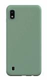 Eiroo Lansman Samsung Galaxy A10 Koyu Yeşil Silikon Kılıf