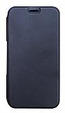 Eiroo Lansman Samsung Galaxy A20 / A30 Silikon Kapaklı Lacivert Kılıf