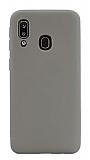 Eiroo Lansman Samsung Galaxy A20 / A30 Gri Silikon Kılıf