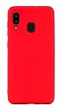 Eiroo Lansman Samsung Galaxy A20 / A30 Kırmızı Silikon Kılıf