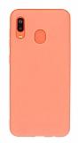 Eiroo Lansman Samsung Galaxy A20 / A30 Turuncu Silikon Kılıf