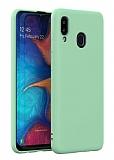 Eiroo Lansman Samsung Galaxy A20 / A30 Yeşil Silikon Kılıf
