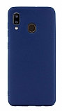 Eiroo Lansman Samsung Galaxy A20 / A30 Lacivert Silikon Kılıf