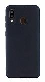 Eiroo Lansman Samsung Galaxy A20 / A30 Siyah Silikon Kılıf