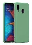 Eiroo Lansman Samsung Galaxy A20 / A30 Koyu Yeşil Silikon Kılıf