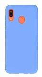 Eiroo Lansman Samsung Galaxy A20 / A30 Mavi Silikon Kılıf