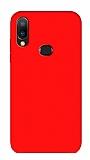 Eiroo Lansman Samsung Galaxy A20S Kırmızı Silikon Kılıf