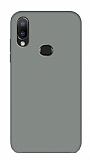 Eiroo Lansman Samsung Galaxy A20S Gri Silikon Kılıf