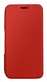 Eiroo Lansman Samsung Galaxy A50 Silikon Kapaklı Kırmızı Kılıf
