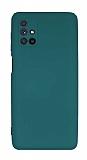 Eiroo Lansman Samsung Galaxy M51 Kamera Korumalı Yeşil Silikon Kılıf