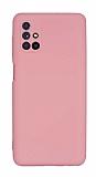 Eiroo Lansman Samsung Galaxy M51 Kamera Korumalı Pembe Silikon Kılıf