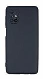 Eiroo Lansman Samsung Galaxy M51 Kamera Korumalı Siyah Silikon Kılıf