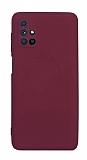Eiroo Lansman Samsung Galaxy M51 Kamera Korumalı Mor Silikon Kılıf