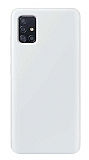 Eiroo Lansman Samsung Galaxy A71 Beyaz Silikon Kılıf