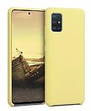 Eiroo Lansman Samsung Galaxy A71 Sarı Silikon Kılıf