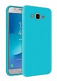 Eiroo Lansman Samsung Galaxy Grand Prime / Prime Plus Mavi Silikon Kılıf