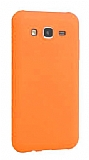 Eiroo Lansman Samsung Galaxy J7 / Galaxy J7 Core Turuncu Silikon Kılıf