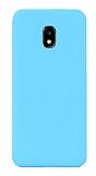 Eiroo Lansman Samsung Galaxy J7 Pro 2017 Mavi Silikon Kılıf