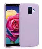 Eiroo Lansman Samsung Galaxy J8 Lila Silikon Kılıf