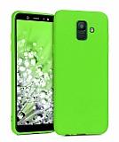 Eiroo Lansman Samsung Galaxy J8 Yeşil Silikon Kılıf