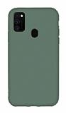 Eiroo Lansman Samsung Galaxy M21 Gri Silikon Kılıf