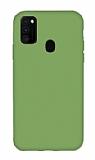 Eiroo Lansman Samsung Galaxy M21 Yeşil Silikon Kılıf