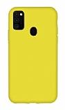 Eiroo Lansman Samsung Galaxy M21 Sarı Silikon Kılıf