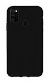 Eiroo Lansman Samsung Galaxy M21 Siyah Silikon Kılıf