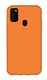 Eiroo Lansman Samsung Galaxy M21 Turuncu Silikon Kılıf