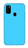 Eiroo Lansman Samsung Galaxy M21 Mavi Silikon Kılıf