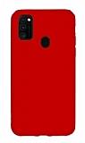 Eiroo Lansman Samsung Galaxy M21 Kırmızı Silikon Kılıf
