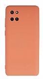 Eiroo Lansman Samsung Galaxy Note 10 Lite Kamera Korumalı Turuncu Silikon Kılıf