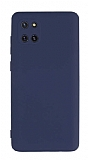Eiroo Lansman Samsung Galaxy Note 10 Lite Kamera Korumalı Lacivert Silikon Kılıf