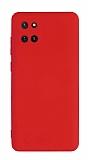 Eiroo Lansman Samsung Galaxy Note 10 Lite Kamera Korumalı Kırmızı Silikon Kılıf