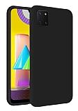 Eiroo Lansman Samsung Galaxy Note 10 Lite Siyah Silikon Kılıf
