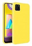 Eiroo Lansman Samsung Galaxy Note 10 Lite Sarı Silikon Kılıf
