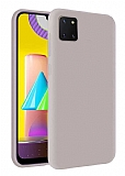Eiroo Lansman Samsung Galaxy Note 10 Lite Gri Silikon Kılıf