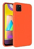 Eiroo Lansman Samsung Galaxy Note 10 Lite Turuncu Silikon Kılıf
