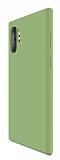 Eiroo Lansman Samsung Galaxy Note 10 Plus Koyu Yeşil Silikon Kılıf