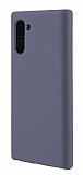 Eiroo Lansman Samsung Galaxy Note 10 Gri Silikon Kılıf