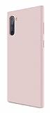 Eiroo Lansman Samsung Galaxy Note 10 Pembe Silikon Kılıf