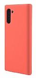 Eiroo Lansman Samsung Galaxy Note 10 Turuncu Silikon Kılıf
