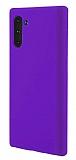 Eiroo Lansman Samsung Galaxy Note 10 Mor Silikon Kılıf