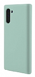 Eiroo Lansman Samsung Galaxy Note 10 Açık Yeşil Silikon Kılıf